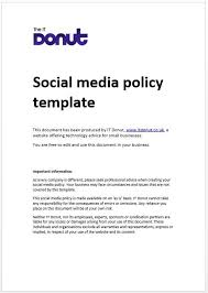 policy templates social media policy template social media policy pinterest