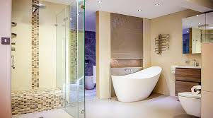 luxury frameless glass shower enclosure and bathroom displays at the new uk tiles direct showroom in