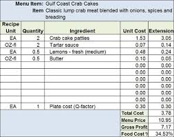 menu spreadsheet template menu recipe cost spreadsheet template proyectos que intentar