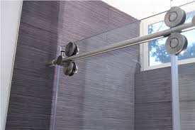 image of frameless sliding shower doors edge seal