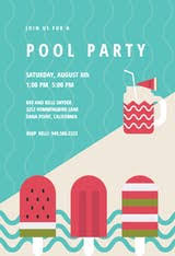Pool Party - Pool Party Invitation Template (Free) | Greetings Island