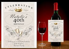40th birthday gifts wine gift ideas