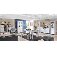 Landhaus Komplett Esszimmer Set Standvitrinen Sideboard