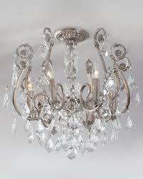 mini chandelier flush mount light fixture for new residence crystal flush mount chandelier decor