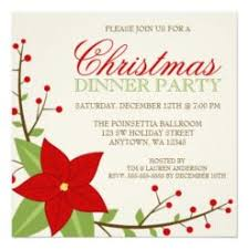 Modern Poinsettia Christmas Holiday Dinner Party Square Paper