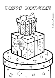 Unsurpassed Birthday Coloring Pages For Kids Party Abbykerrink