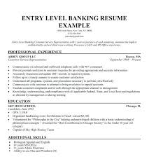 Banking Resume Objective Entry Level Manager Thekindlecrew Com
