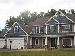 Norandex Woodsman Select Premium Vinyl Siding In Granite And - Exterior vinyl siding