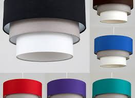 modern easy fit 3 tier fabric cotton ceiling pendant light