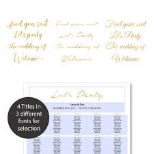 Browns Seating Chart 2017 8 Sizes Faux Gold Foil Wedding Seating Chart Template