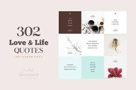 302 Love Life Instagram Quotes Instagram Templates Creative Market