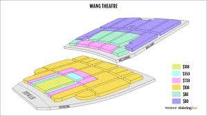Wang Theater Boston Seating Chart