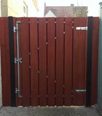 a customers completed gate using our metal gate frame