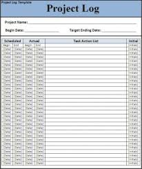 excel work log template 7 free project log templates excel pdf formats