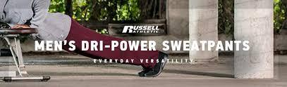 Russell Athletic 596hbm Unisex Adult Dri Power Open Bottom Fleece Pocket Pant