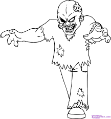 Zombies Coloring Pages Experienced Zombie Image 3 Scary Zombie