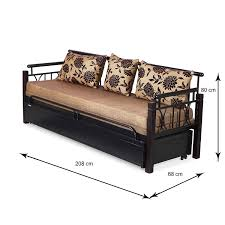 sofa cum bed. Nilkamal Flint Two Seater Sofa Cum Bed (Black): Amazon.in: Home \u0026 Kitchen