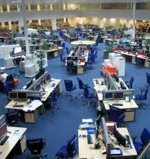 open layout office. Example Of An Open Plan Office Layout. Layout