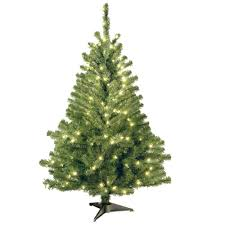 National Tree Company 4 ft. Kincaid Spruce Artificial Christmas Tree with  Clear Lights