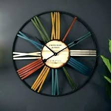 unusual wall clocks funky for large nz rajah red slate cool