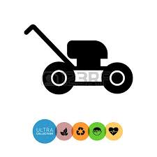 lawn mower logo. lawn mower icon logo