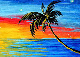 abstract painting abstract tropical palm tree painting tropical goodbye by madart by megan duncanson