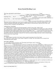 rent and lease template templates in pdf word excel room rental and lease sample form