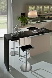 Two Level Kitchen Island Kitchen Bar Black Stylsih Contemporary Wooden Breakfast Bar Two