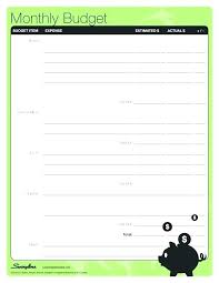 excel template monthly budget home expense budget template