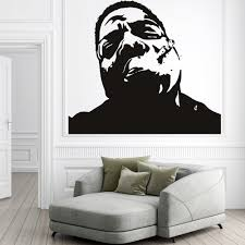 notorious big wall sticker rap wall decal icon celebrity home decor