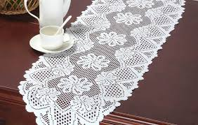 bamboo for tables ideas size kmart runners patterns dining target lace macrame table runner crochet burlap
