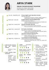 Simple Minimalist Resume Word Template Vista Resume
