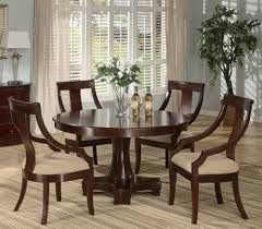 5pc cal dining table chairs set deep cherry finish