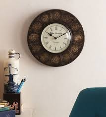 Gold Finish Brass 12 Inch Wall Clock By Cocovey