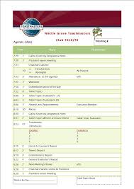 sample agenda sample meeting agenda wattle grove toastmasters club