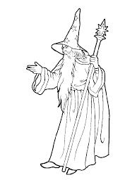 Mago Fantasy Wizardfree Preschoolcopicsearchingcoloring Pageskindergartenmiddle Ageswizardsmale