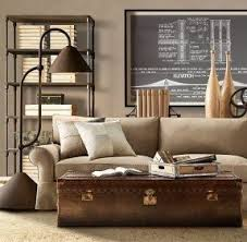 Living Room Coffee Table, All Leather, 3,000 Hand Pounded