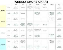 Chore Chart Templates Free Printable Chore Calendar