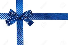 Blue Ribbon Design Blue Gift Bow And Ribbon On White Background