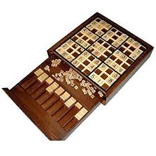 Deluxe Wooden Sudoku Game Board Amazon Wooden Deluxe Sudoku Board Game Toys Games 2