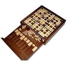 Deluxe Wooden Sudoku Game Board Amazon Wooden Deluxe Sudoku Board Game Toys Games 2