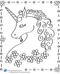 Fairy and unicorn coloring page for adults. Unicorn Color Pages Coloring Home
