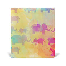 Art Dazzle Colour Elephant Leather Stretchable Book Covers Durable Reusable Nylon Fabric Hard Cover Schoolbooks Notebooks Textbooks 9x11 Inch