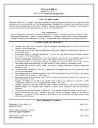 Transportation Logistics Manager Resume Sample New Latest Resume