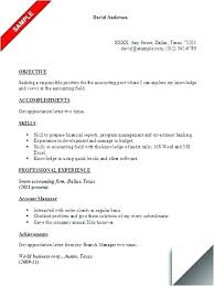 Sample Resume For Accounting Manager Accounting Manager Resume Sample Resume Objective Accounting Resume