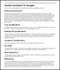 Example Of A Dental Assistant Resume Sample Good Skills For Unique Dental Assistant Resume Skills
