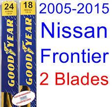 Wiper Blade Fit Chart 2005 2015 Nissan Frontier Replacement Wiper Blade Set Kit Set Of 2 Blades Goodyear Wiper Blades Premium