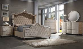 Meridian Bedroom Furniture Diamond Canopy Bedroom Set In Golden Beige By Meridian Furniture