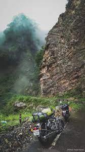 Bikes Travel Hills Fog 4K Ultra HD ...