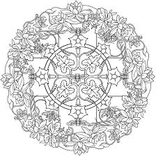 Nature Mandala Coloring Pages Printable Printable Educations For Kids